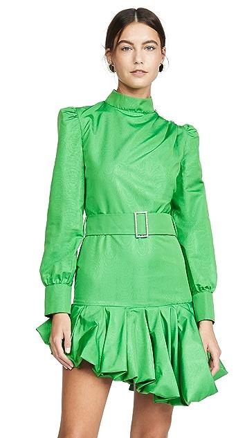 Giuseppe di Morabito Belted Asymmetrical Mini Dress