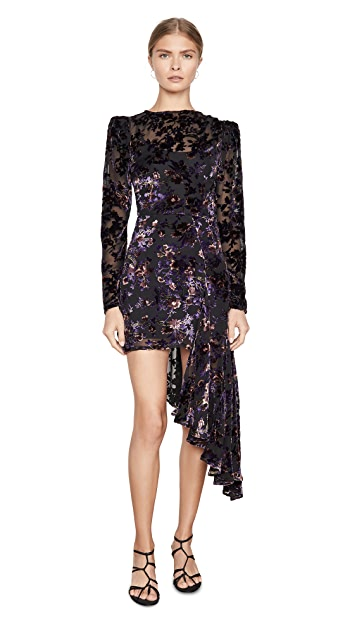 Giuseppe di Morabito Long Sleeve Floral Mini Dress