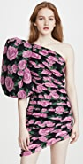 Giuseppe di Morabito One Shoulder Puff Sleeve Mini Dress
