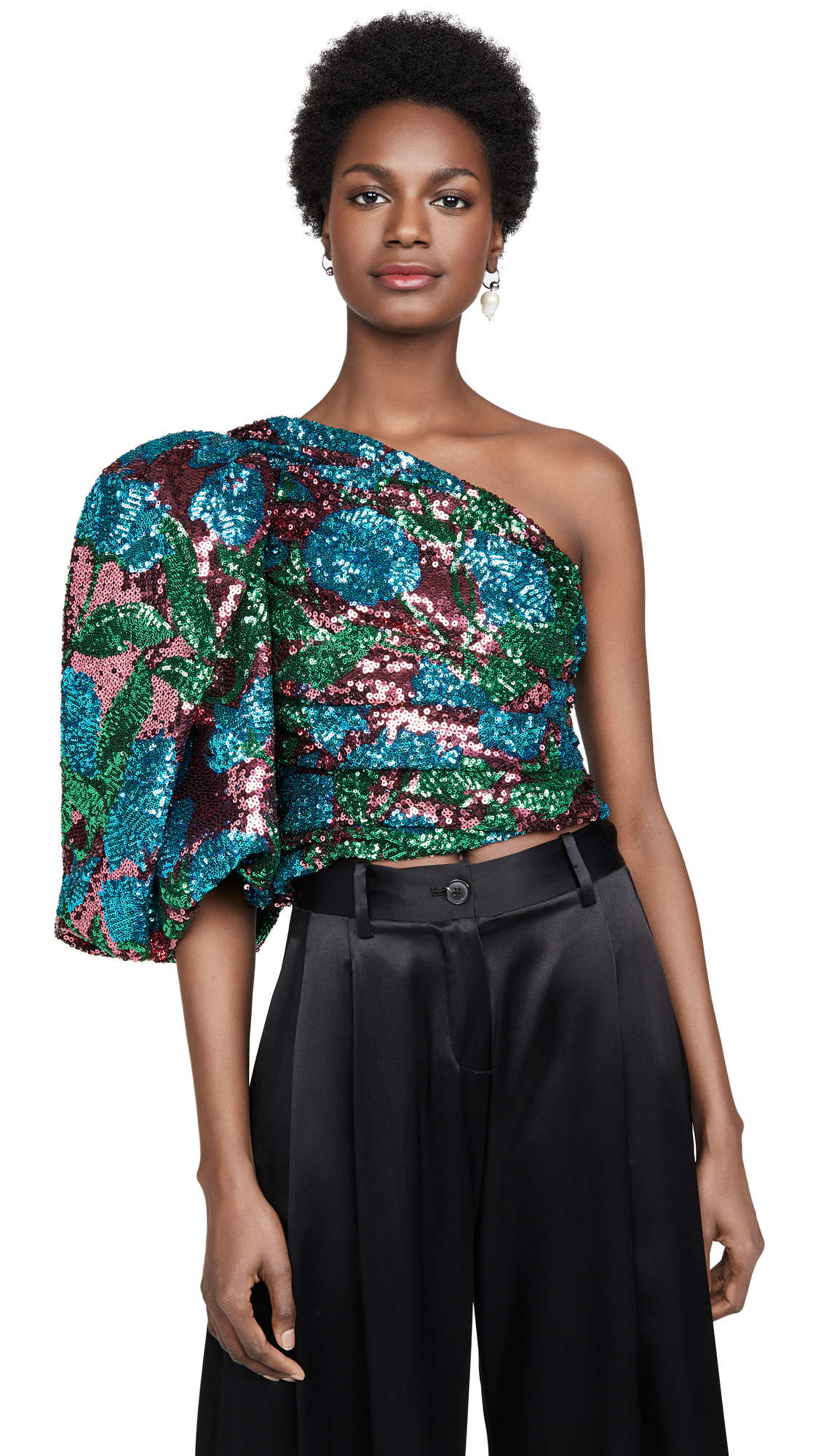 Giuseppe di Morabito One Shoulder Sequin Top - 30% Off Sale
