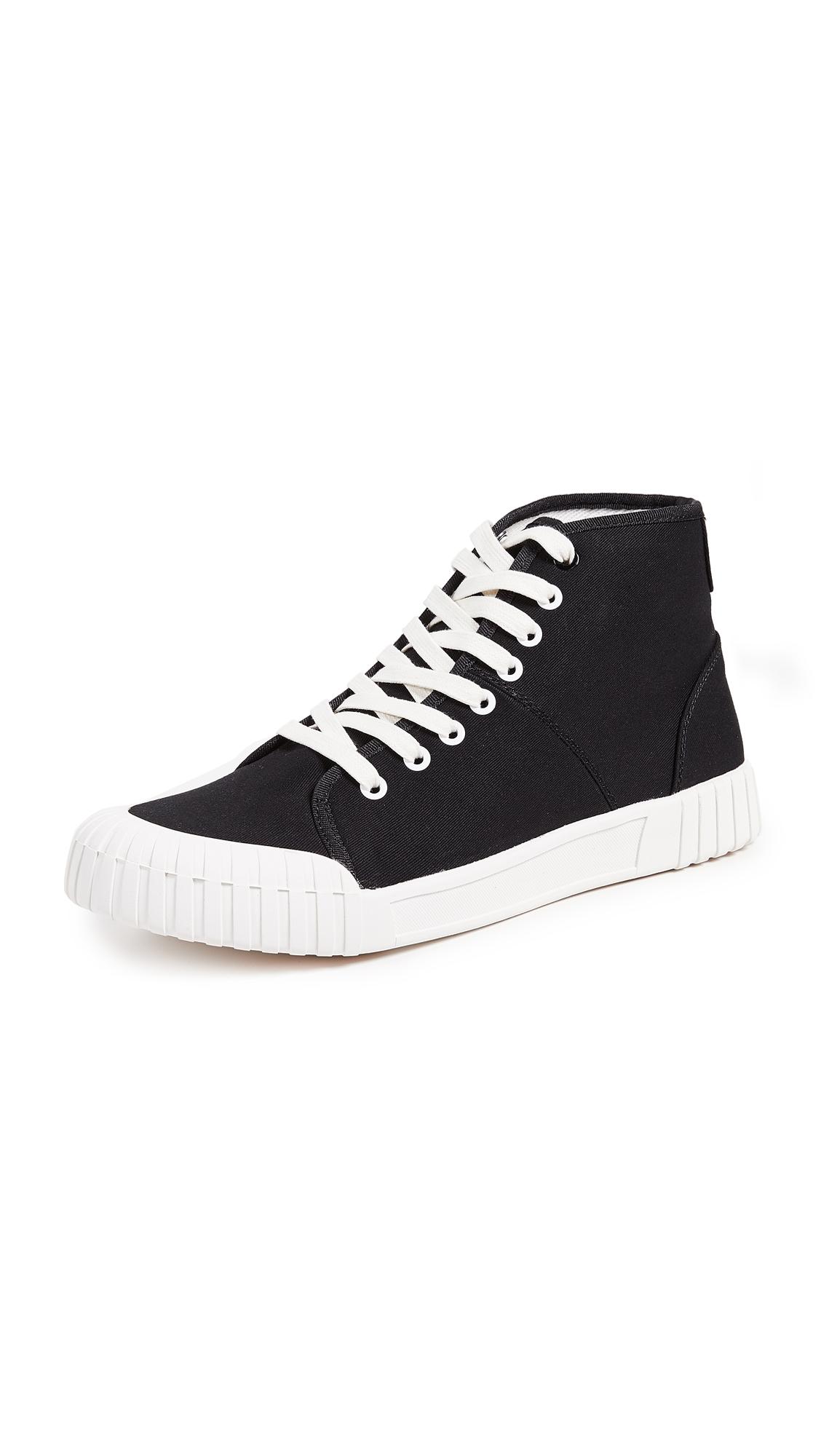 GOOD NEWS Bagger High Top Sneakers in Black