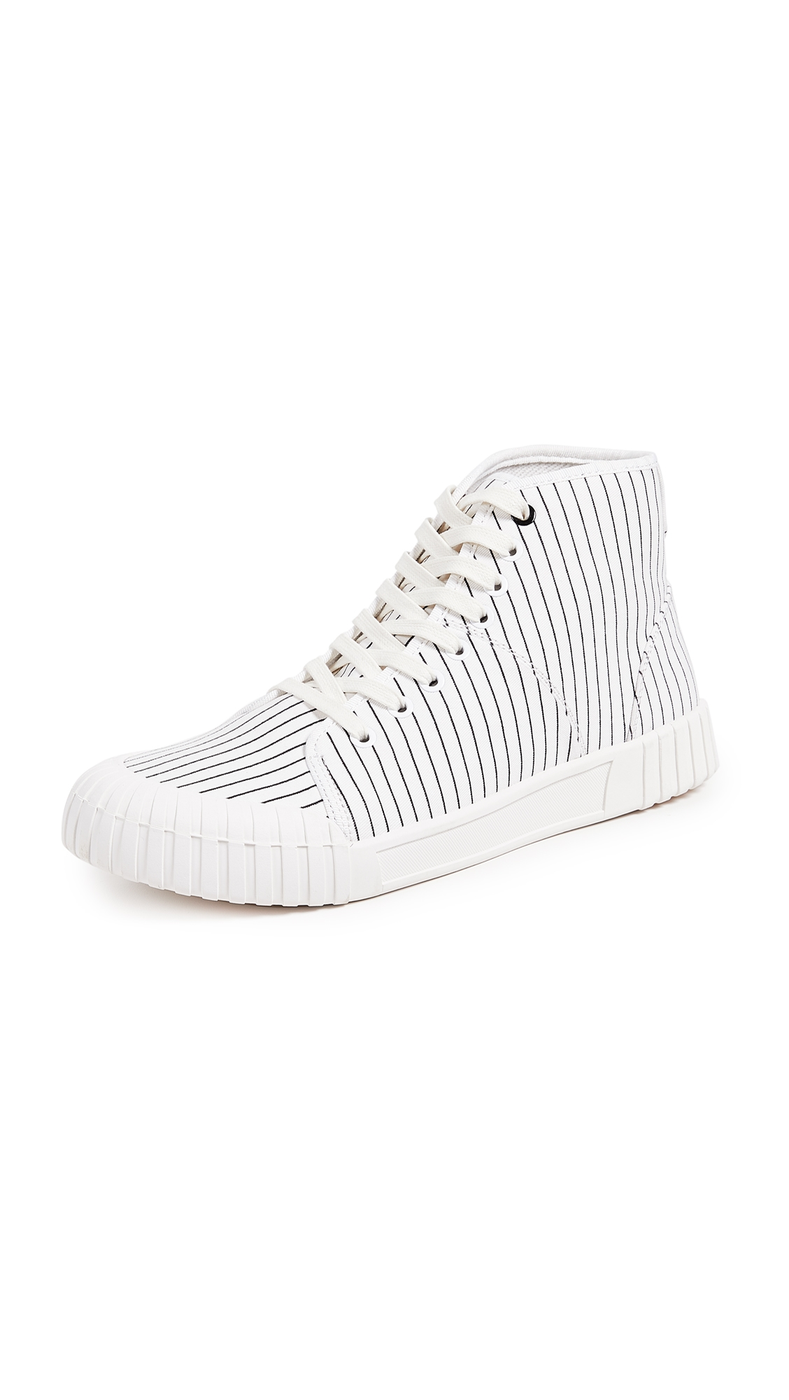 GOOD NEWS Hurler High Top Sneakers in White