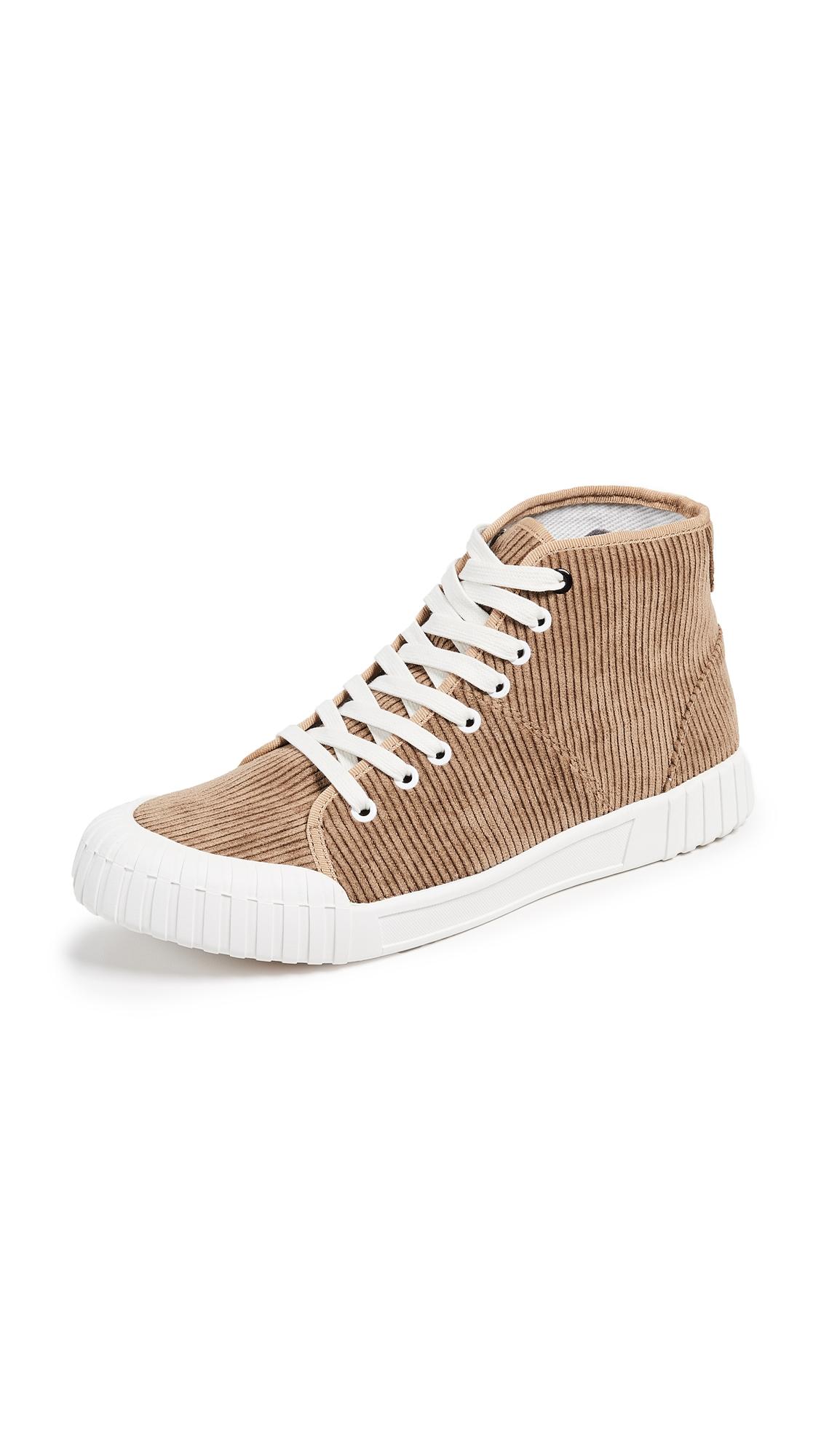 GOOD NEWS Rhubarb High Top Sneakers in Tan