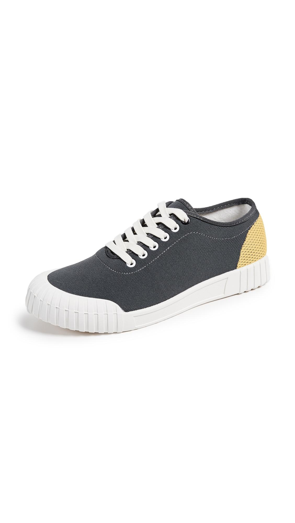 GOOD NEWS Gamer Low Top Sneakers in Grey/Yellow