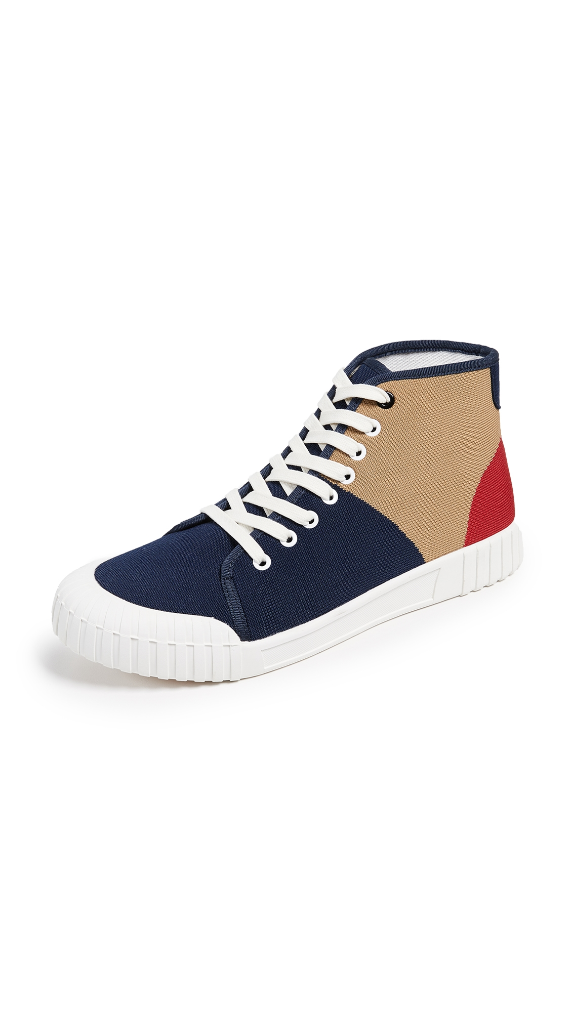 GOOD NEWS Gamer High Top Sneakers in Tri Color