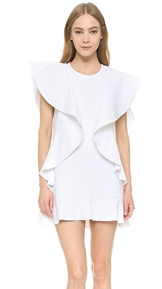 Goen.J Sleeveless Ruffle Dress - White
