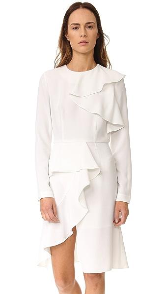 GOEN.J Long Sleeve Ruffle Dress