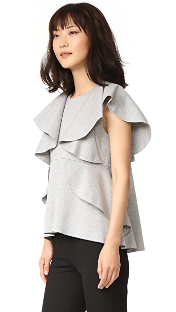 GOEN.J Sleeveless Ruffle Top