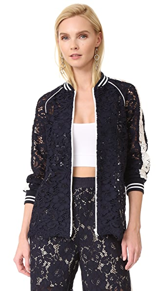 GOEN.J Crew Neck Lace Jacket