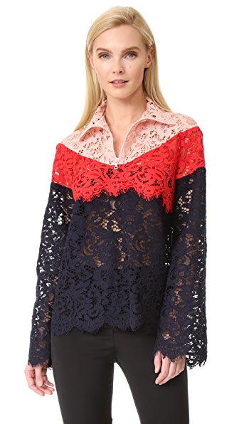 GOEN.J High Neck Lace Jacket