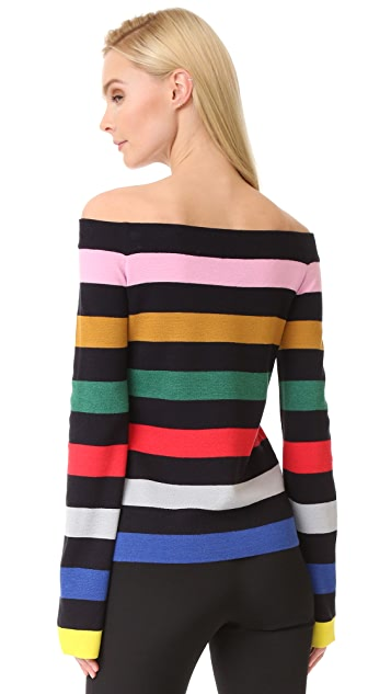 GOEN.J Striped Knit Top