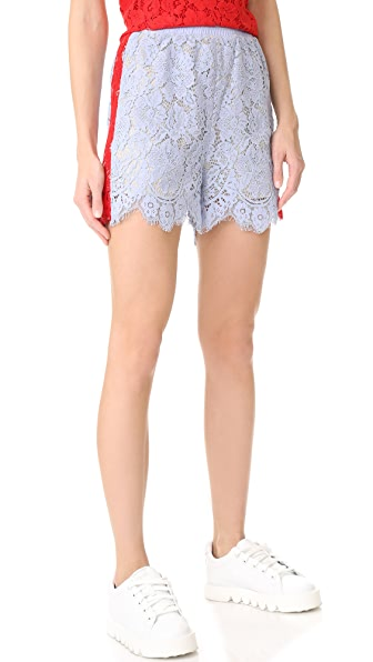 GOEN.J Lace Shorts In Sky Blue