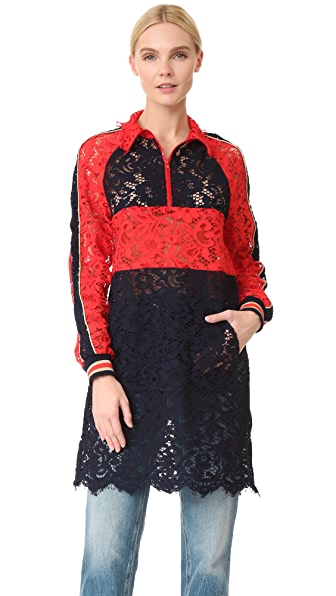 GOEN.J Long Lace Jacket Dress