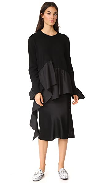 GOEN.J Sweater with Ruffles - Black