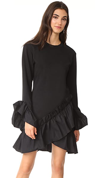 GOEN.J Ruffle Dress In Black