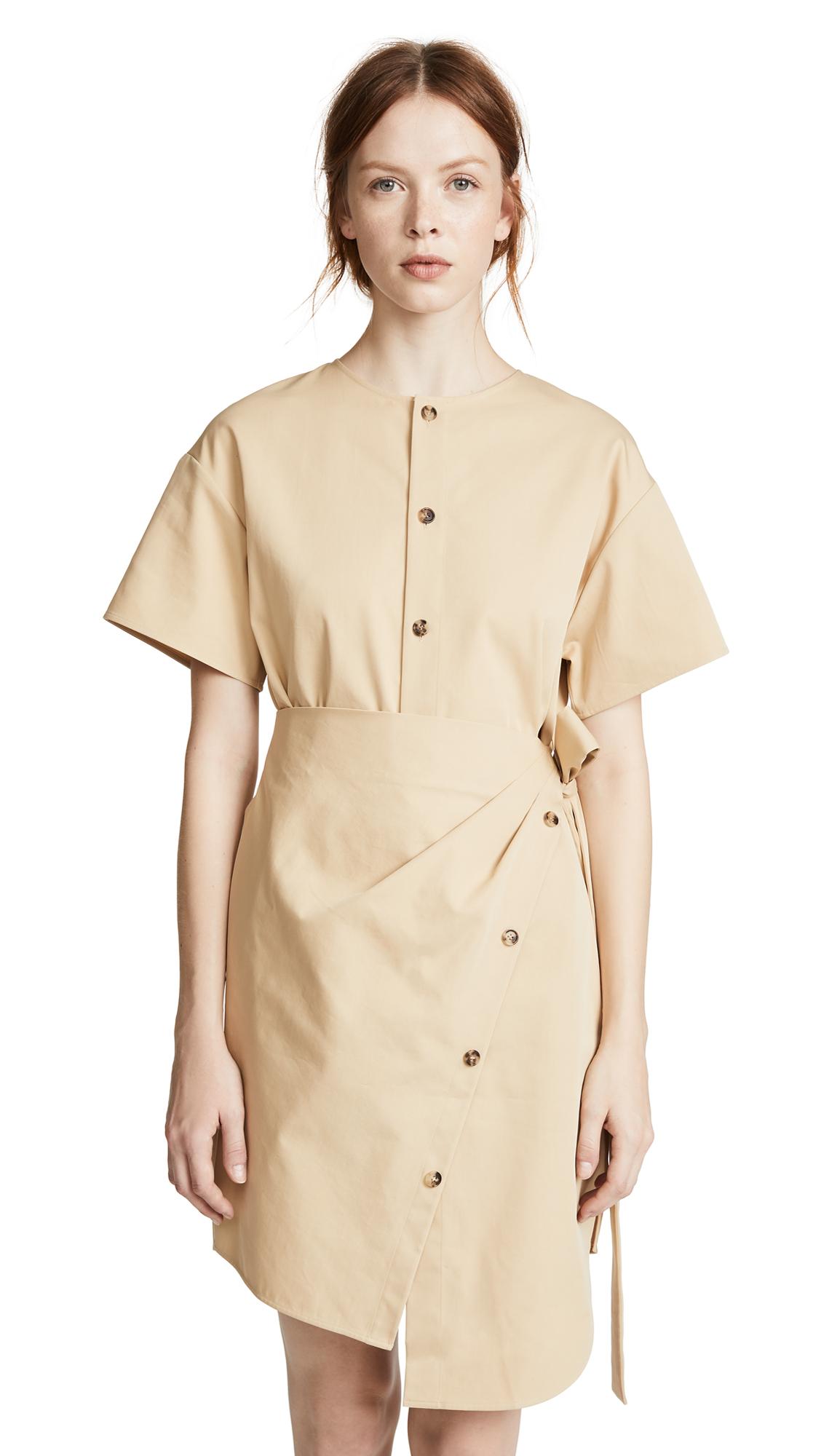Goen J ASYMMETRICAL WRAP DRESS