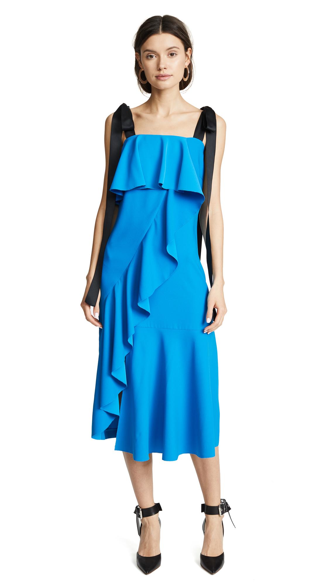 GOEN.J Ruffle Trimmed Midi Dress