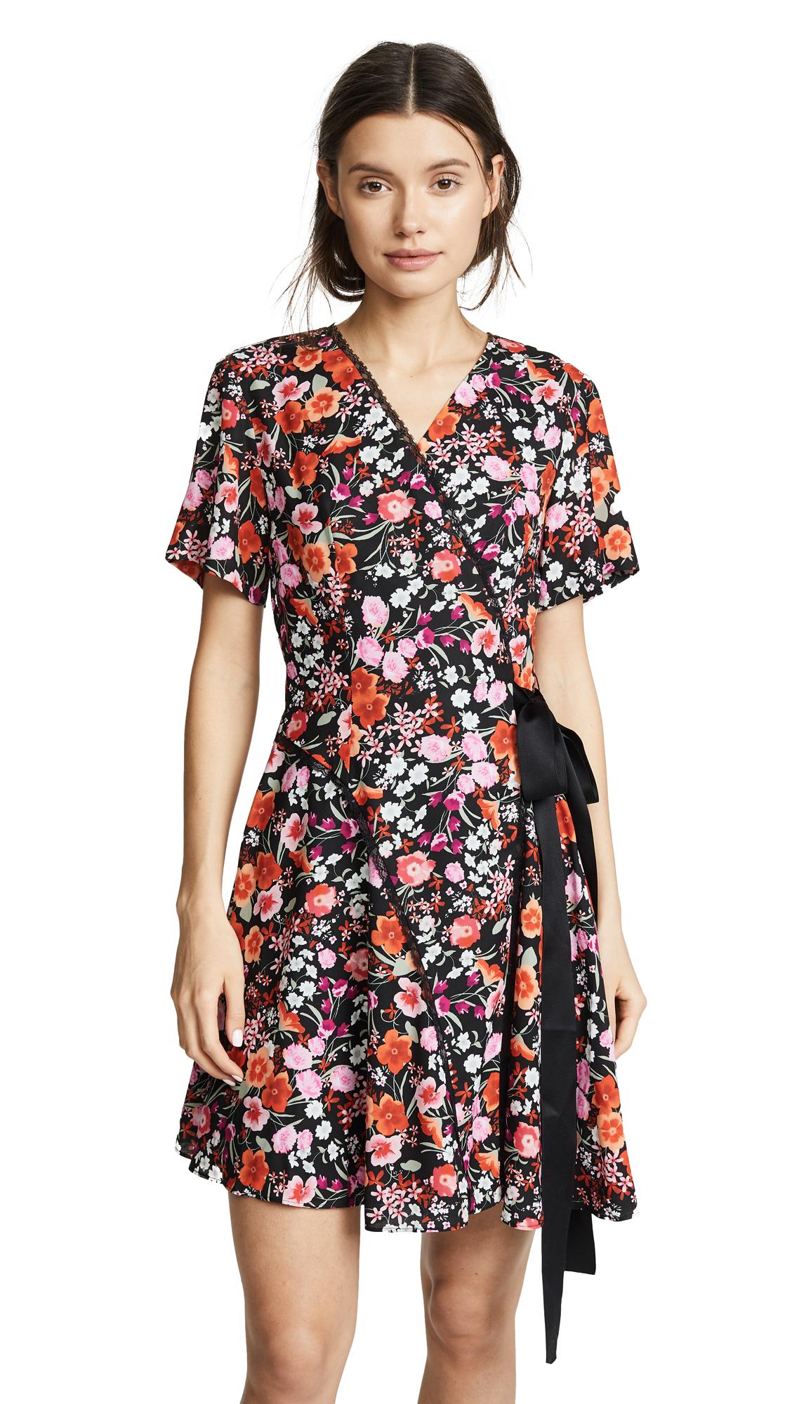 GOEN.J Paneled Wrap Dress In Multi