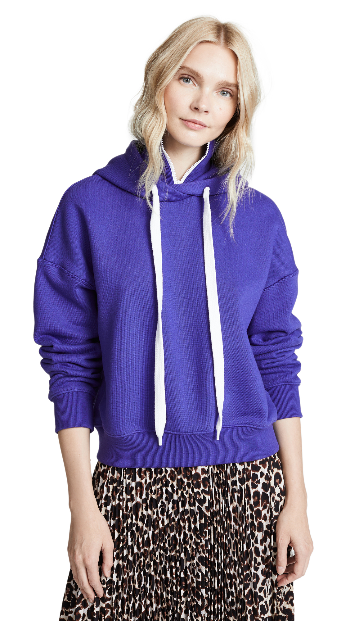 GOEN.J Hooded Sweatshirt In Violet