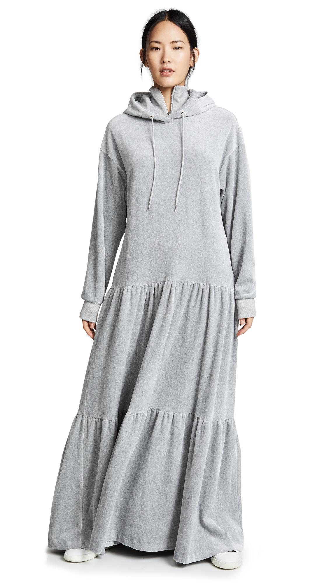 GOEN.J Hoodie Dress In Grey
