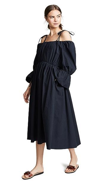 GOEN.J Voluminous Gathered Shoulder Dress