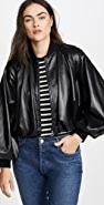 GOEN.J Faux Leather Bomber