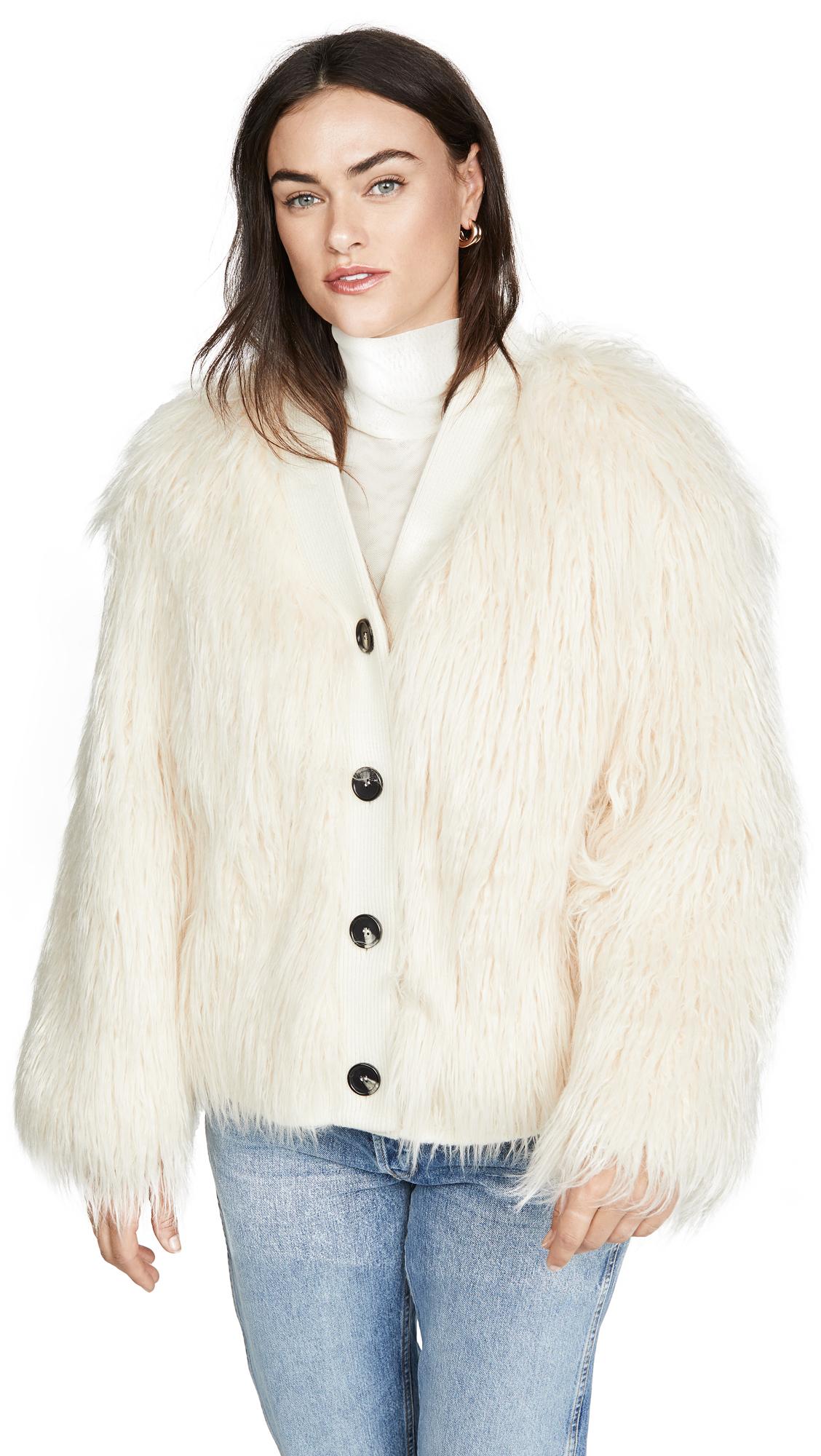 Buy GOEN.J online - photo of GOEN.J Faux Shearling Coat