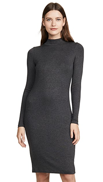 Goldie Ribbed Mock Neck Dress