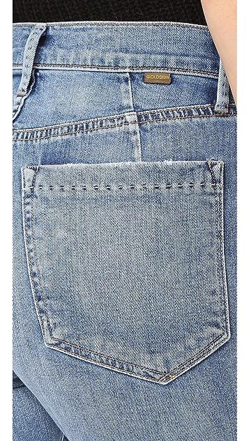 GOLDSIGN Glenn High Rise Cropped Straight Jeans