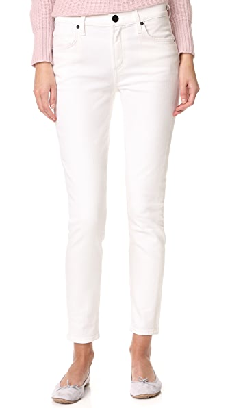 GOLDSIGN The Profit Ankle Skinny Jeans In Lace