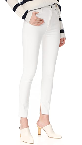 GOLDSIGN The Non Profit Ultra High Rise Ankle Zipper Jeans