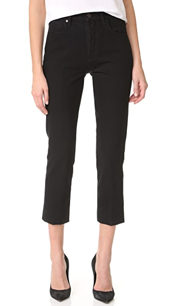 GOLDSIGN The Refit High Rise Cropped Jeans In Pressed Black