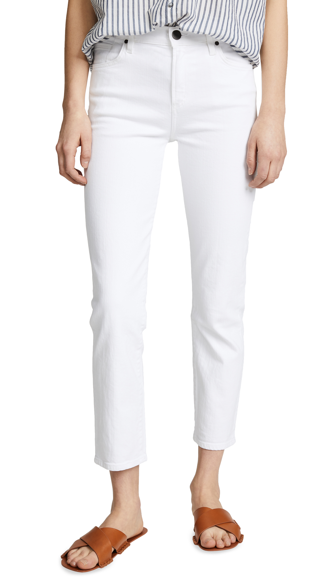 GOLDSIGN The Semi Fit Slim Straight Jeans In Bright White