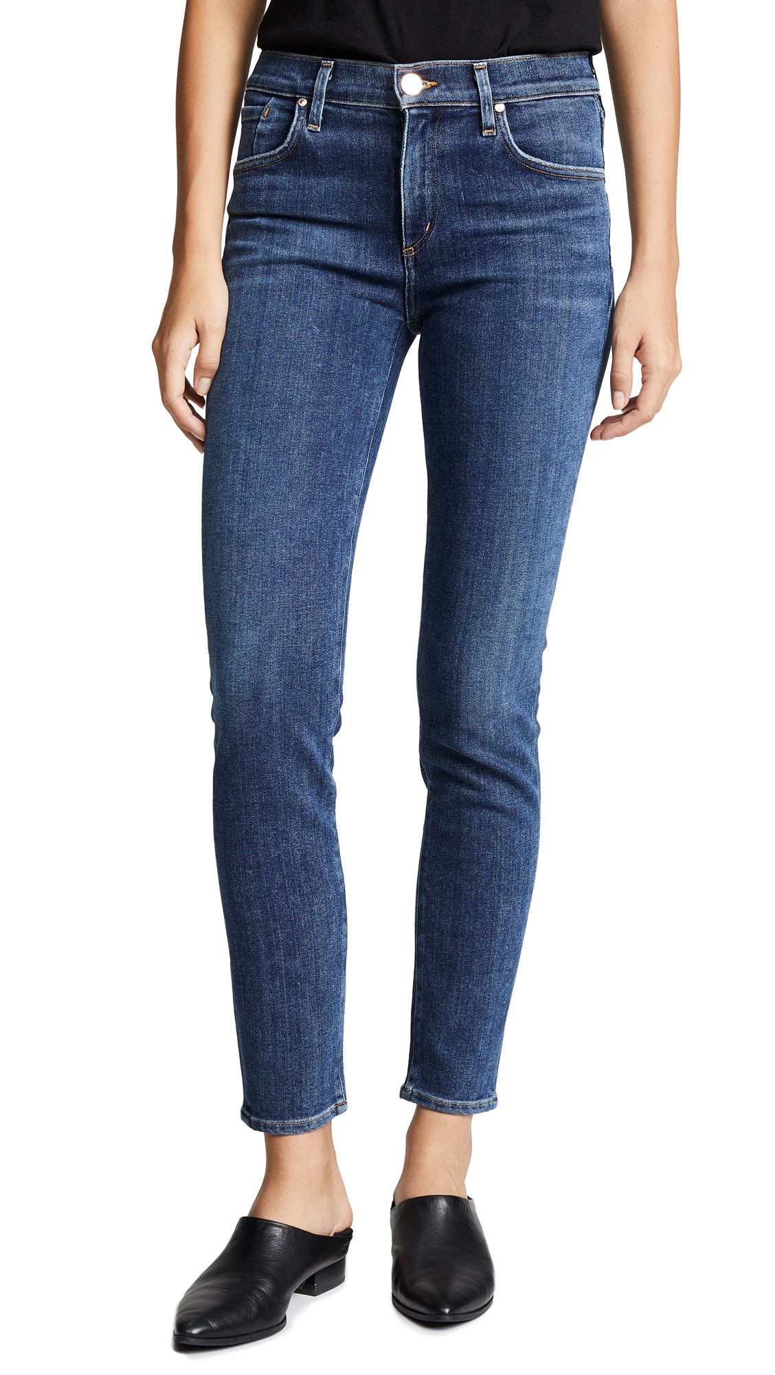 GOLDSIGN The Profit Ankle Skinny Jeans in Pitch
