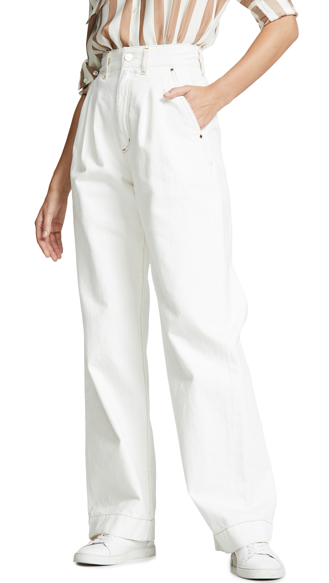 The Trouser Jeans in Pearl