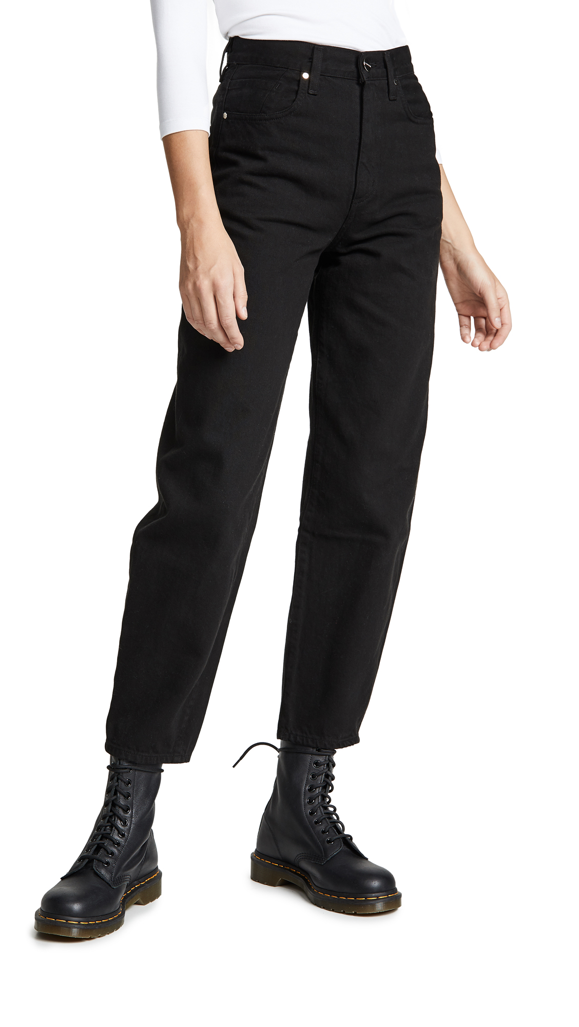 GOLDSIGN The Curved Jeans in Black