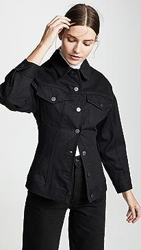 GOLDSIGN Black The Waisted Jacket