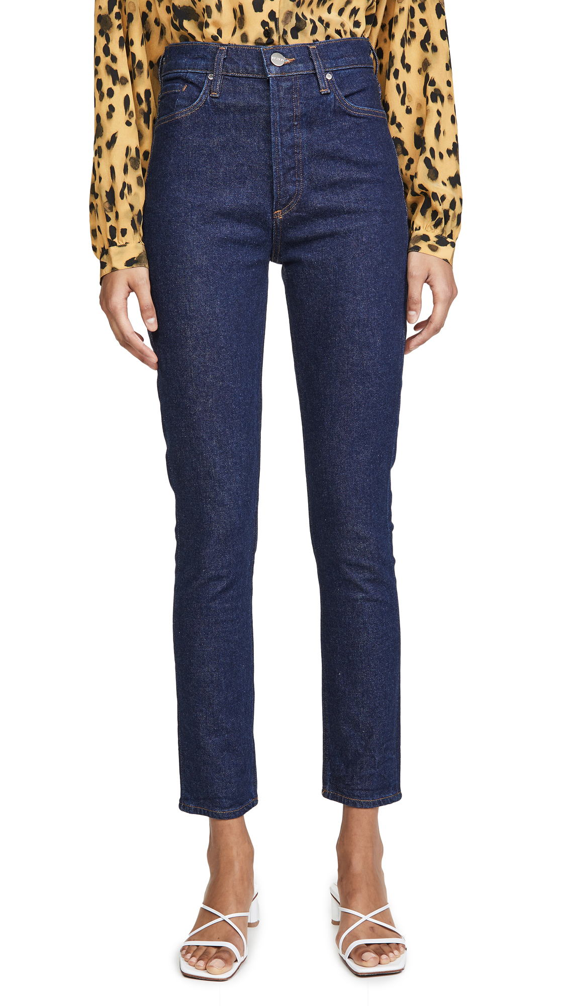 Buy GOLDSIGN online - photo of GOLDSIGN The High Rise Slim Jeans