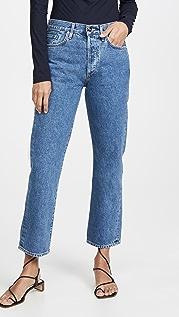 GOLDSIGN Свободные прямые джинсы