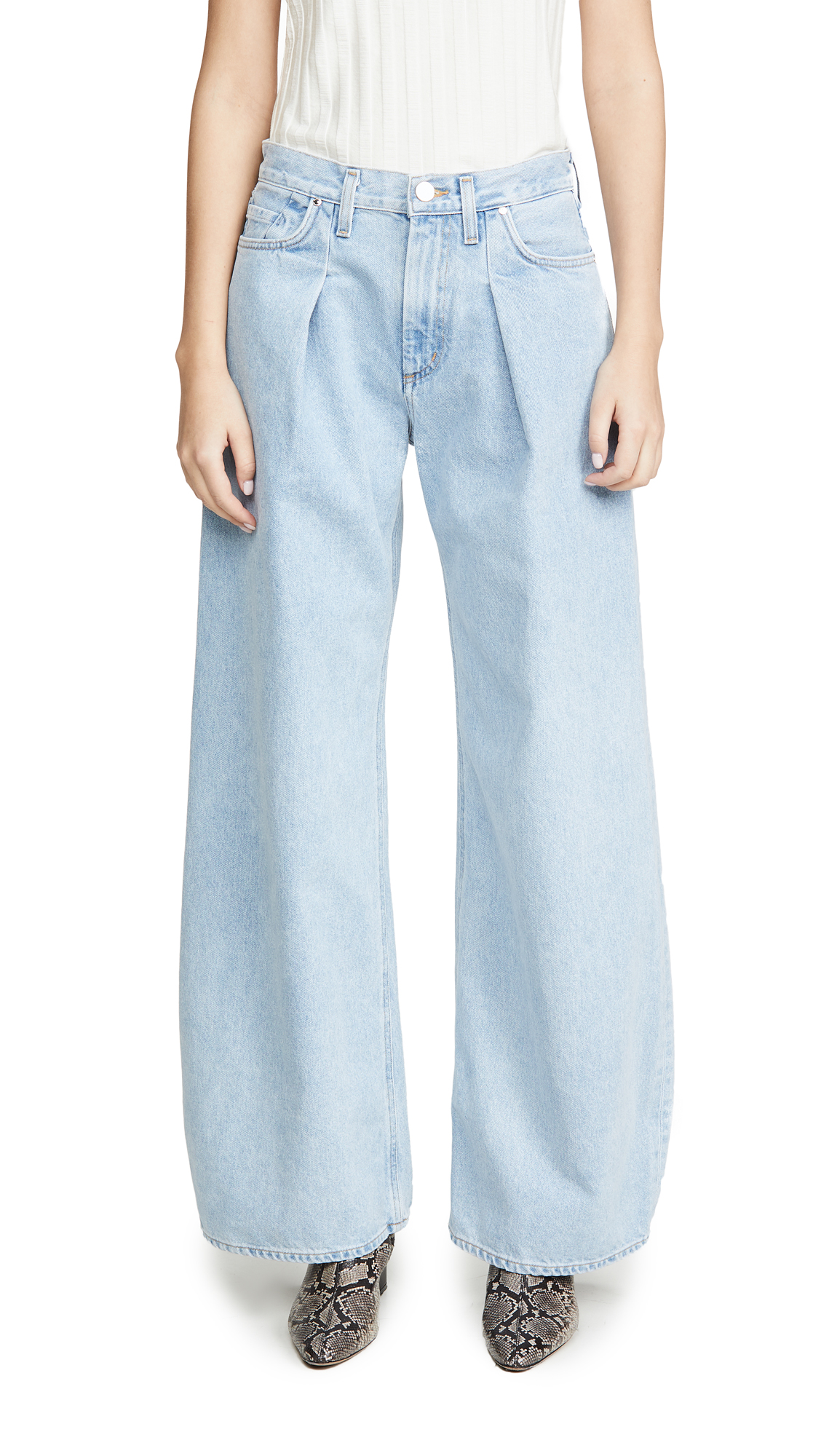 Buy GOLDSIGN online - photo of GOLDSIGN The Wide Leg Jeans