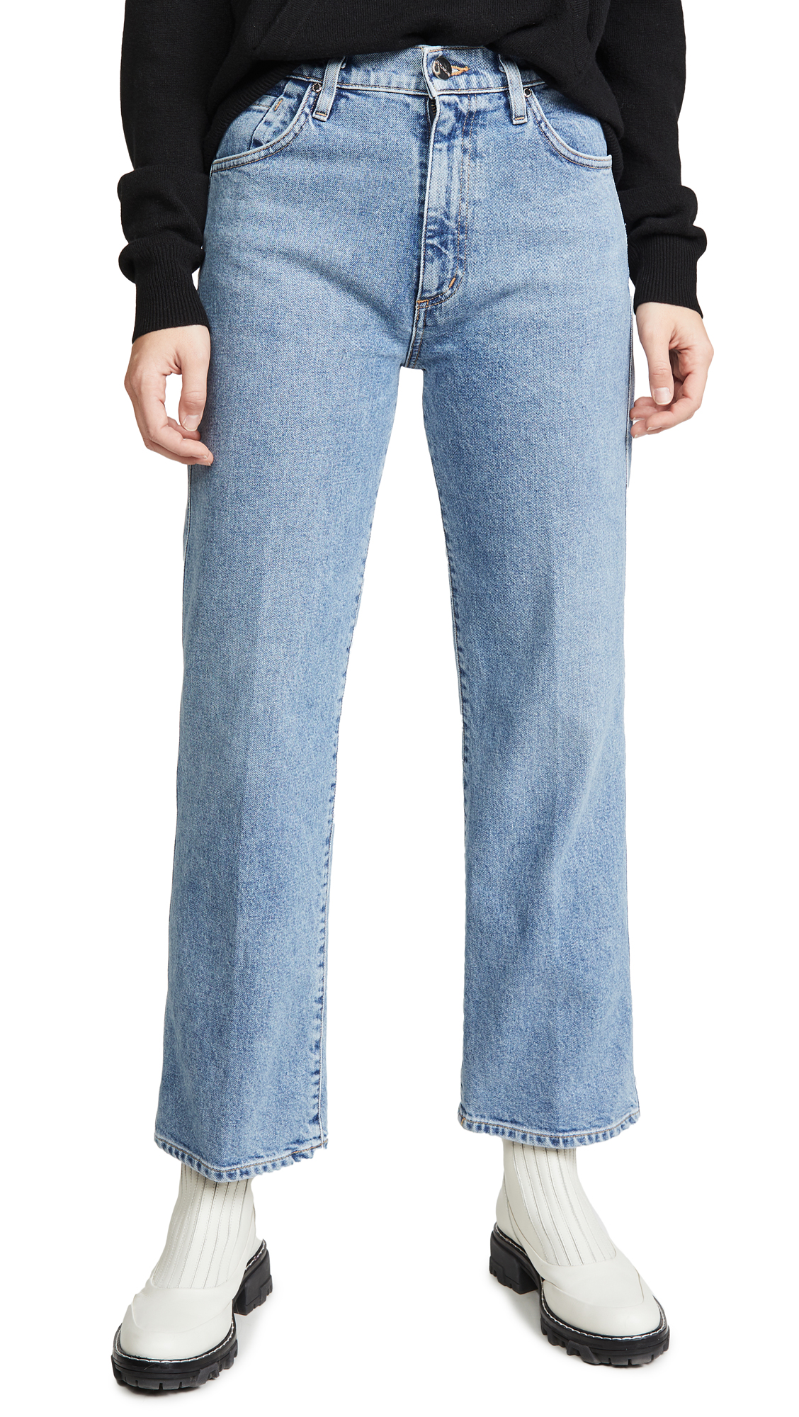 Buy GOLDSIGN online - photo of GOLDSIGN The Cropped A Jeans