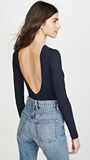 GOLDSIGN The Deep V Back Bodysuit