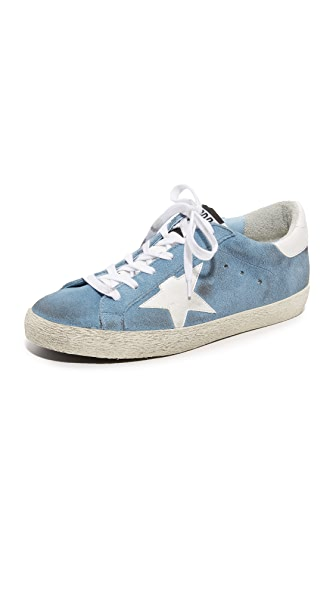 Golden Goose Superstar Sneakers - Ciel/White