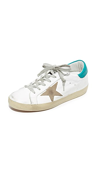 Golden Goose Superstar Sneakers - White/Petrol