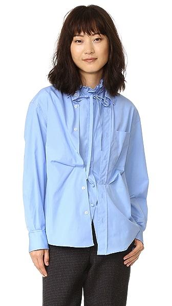 Golden Goose Deborah Shirt In Azure Blue