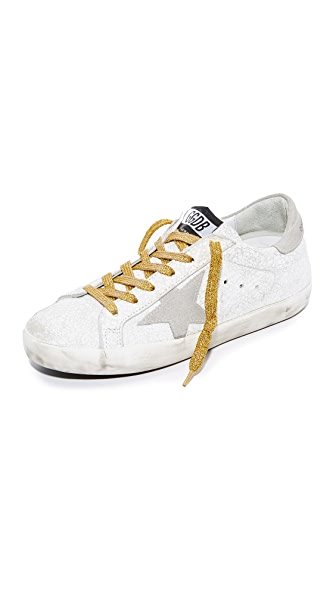 Golden Goose Superstar Sneakers - White Crash