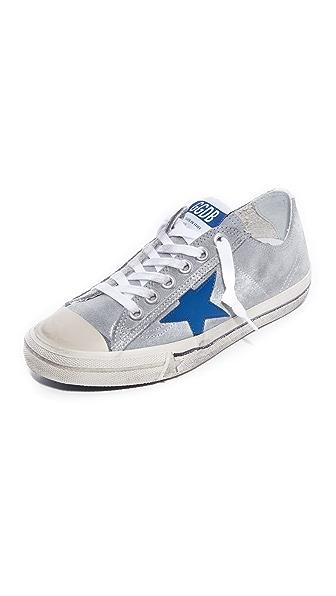Golden Goose V-Star 2 Sneakers - Gray/Bluette Star