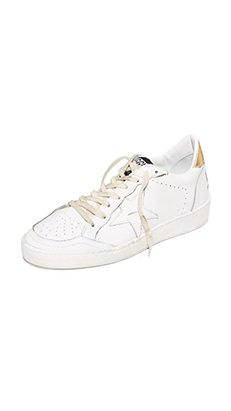 Golden Goose Ball Star Sneakers - White/Gold