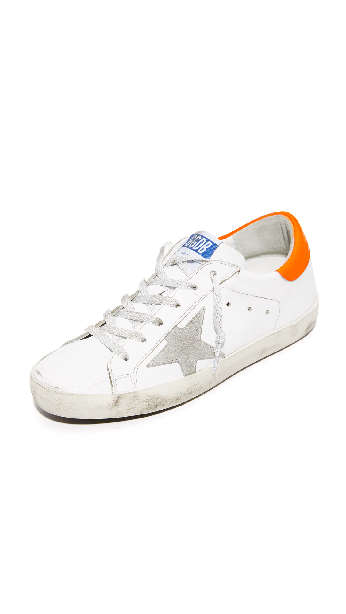 Golden Goose Superstar Sneakers - White/Fluro Orange