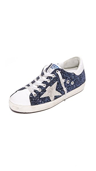 Golden Goose Superstar Glitter Sneakers - Navy Glitter/Ice